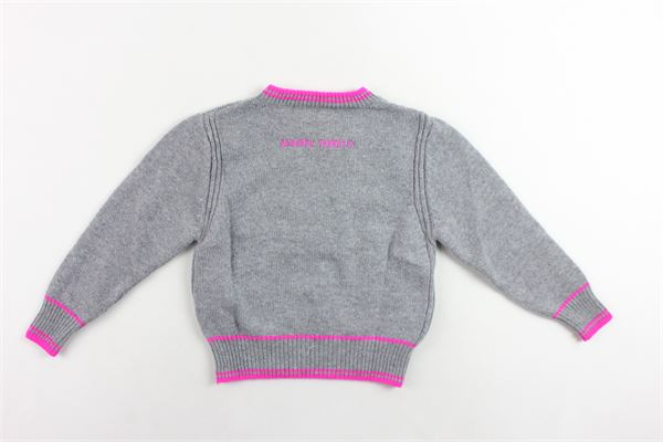 maglione corto in lana tinta unita con stampa ALBERTA FERRETTI   Maglie   020304GRIGIO