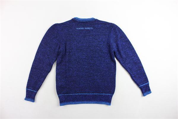 maglione girocollo manica lunga laminata con stampa ALBERTA FERRETTI   Maglie   020318BLU