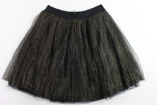 gonna in tulle tinta unita con profili in lurex ALBERTA FERRETTI | Gonne | 021347NERO