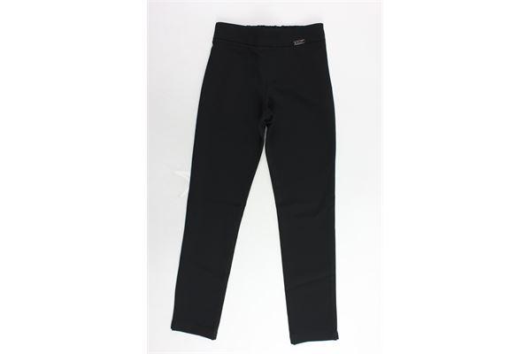 pantalone tinta unita elastico in vita con zip laterale ALICE PI | Pantaloni | 6786NERO