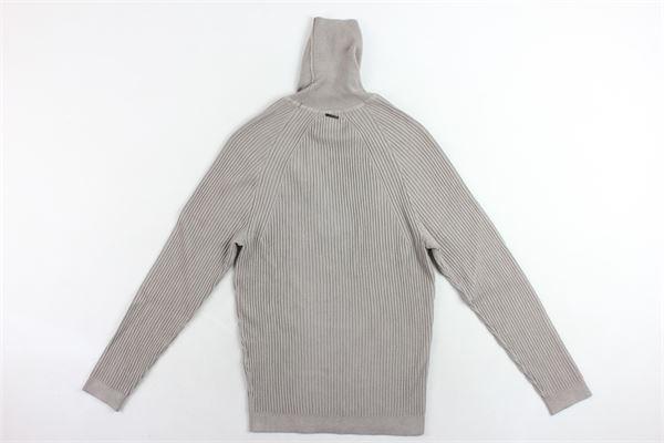 maglione collo alto tinta unita e costine ANTONY MORATO | Maglie | MMSW00960FANGO