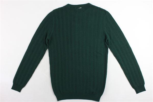 maglione girocollo tinta unita microfantasia ANTONY MORATO | Maglie | MMSW00967VERDE BOTTIGLIA