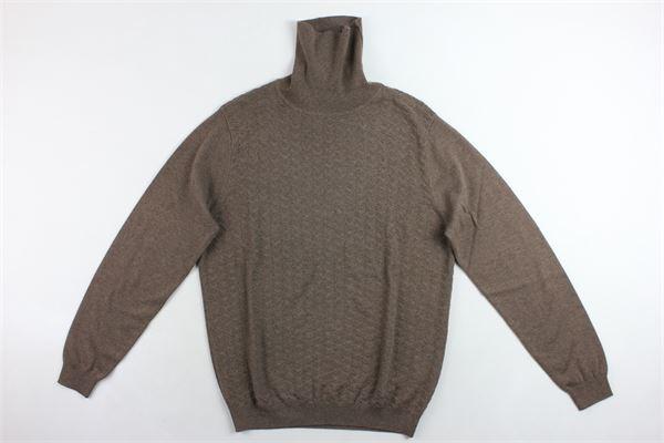 maglione collo alto tinta unita e microfantasia ANTONY MORATO | Maglie | MMSW00977MARRONE