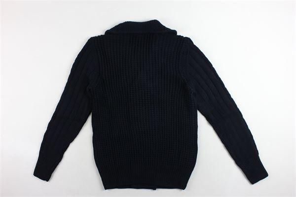cardigan in lana tinta unita microfantasia ANTONY MORATO | Maglie | MMSW01010BLU