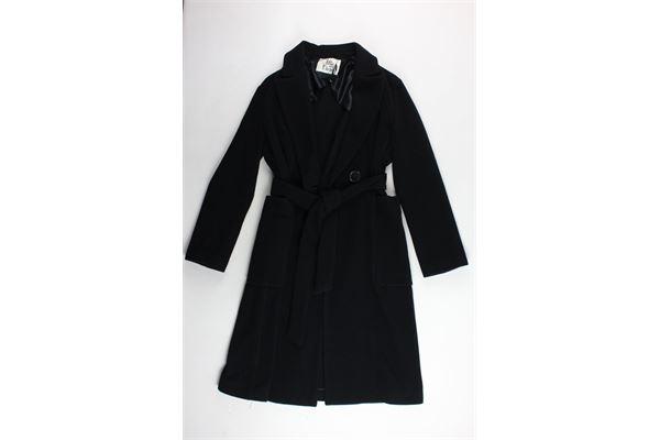 cappotto tinta unita con cintura e tasconi ATTICANDBARN | Giubbini | ATCO005NERO