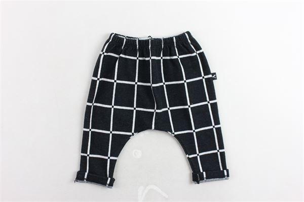 pantalone fantasia a quadri cavallo basso AVENTIQUATTRORE | Pantaloni | A240211NERO
