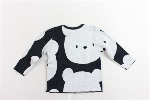 shirt manica lunga tinta unita con orso AVENTIQUATTRORE | Shirts | A240213NERO