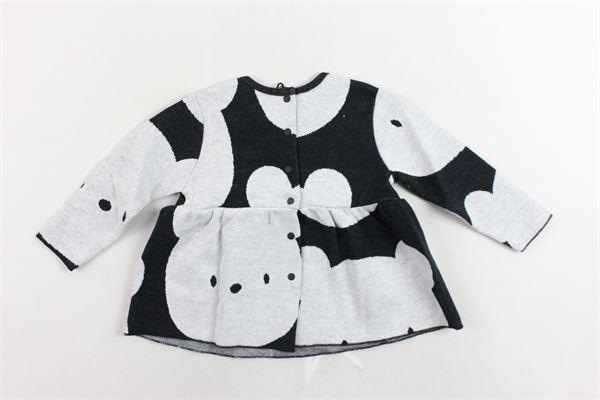 maglia manica lunga in cotone stampa orso AVENTIQUATTRORE | Maglie | A240215NERO