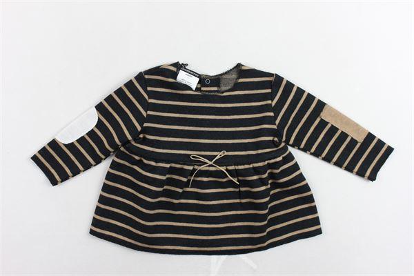 maglia manica lunga rigata con toppe AVENTIQUATTRORE | Maglie | A240251NERO