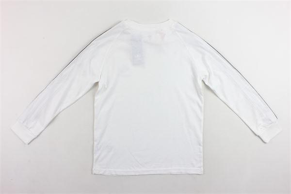 shirt manica lunga tinta unita profili in contrasto e stampa Adidas | Shirts | DW9298BIANCO