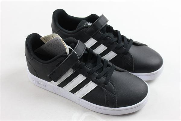 sneakers bassa con strappo e lacci tinta unita Adidas | Scarpe | EF0108NERO