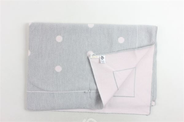 coperta in lana vergine bicolore con pois BABY LORD | Coperte | COPERTABABYLORD4GRIGIO-ROSA
