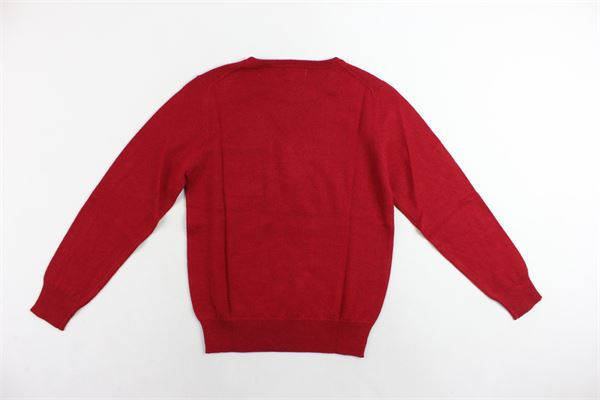 maglione girocollo con taschino tinta unita con stampa BERNA | Maglie | BRNF8033MAROSSO