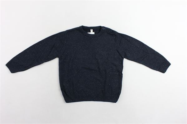 maglione girocollo microfantasia con bottoni alla spalla BIRBA | Maglie | 403767550097ZBLU