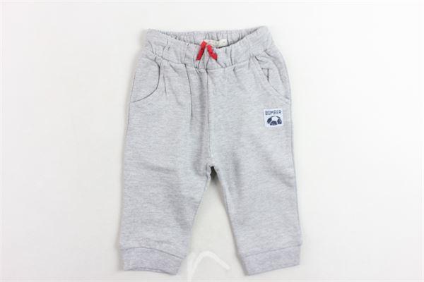 pantalone tuta felpato tinta unita con stampa BIRBA | Pantaloni | 99976520048DGRIGIO