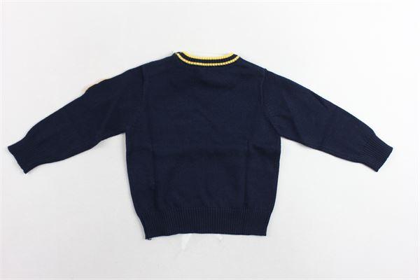 maglione girocollo tinta unita con bottoni alla spalla e taschino BIRBA | Maglie | 999767140070CBLU