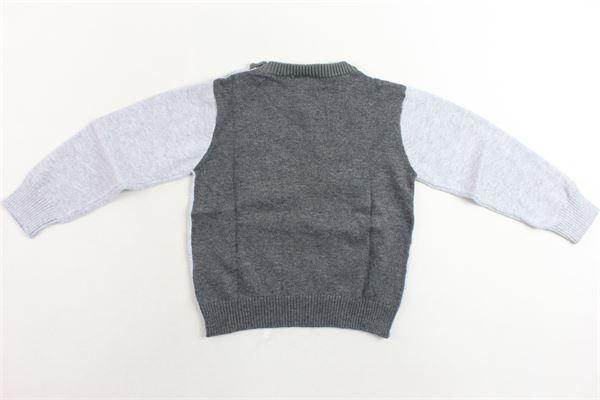 maglione girocollo tinta unita con stampa bottoni alla spalla BIRBA | Maglie | 999767160048DGRIGIO