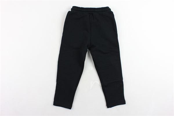pantalone tuta garzato tinta unita BLACK CIRCUS | Pantaloni | PAK516MNERO