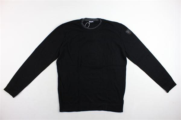 maglione girocollo tinta unita BLAUER | Maglie | 18WBLUMO1212004770NERO