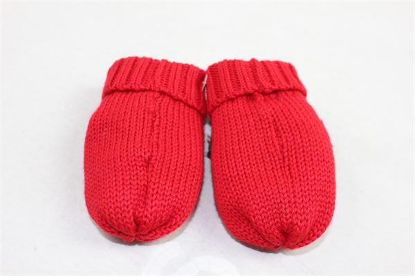 guanti neonata in lana tinta unita con fiocco BLUMARINE | Guanti | 35HRG15ROSSO