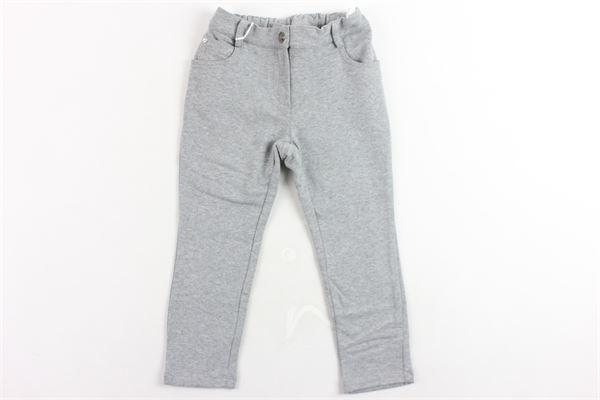 pantalone felpato tinta unita BLUMARINE | Pantaloni | 417PL08GRIGIO
