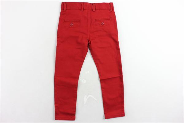 pantalone tinta unita tasca america girovita regolabile BOBOLI | Pantaloni | 718040ROSSO