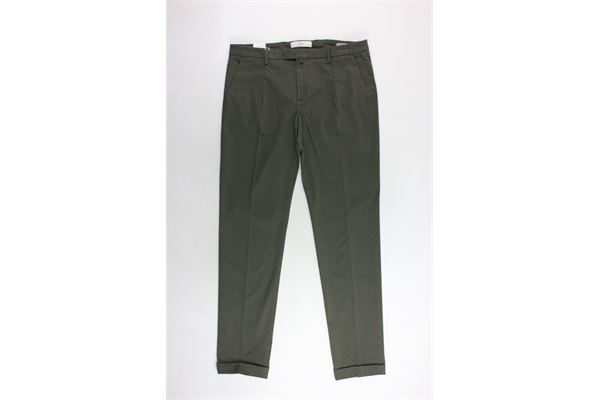 pantalone con girovita regolabile tinta unita tasca americana BRIGLIA | Pantaloni | BG07VERDE MILITARE