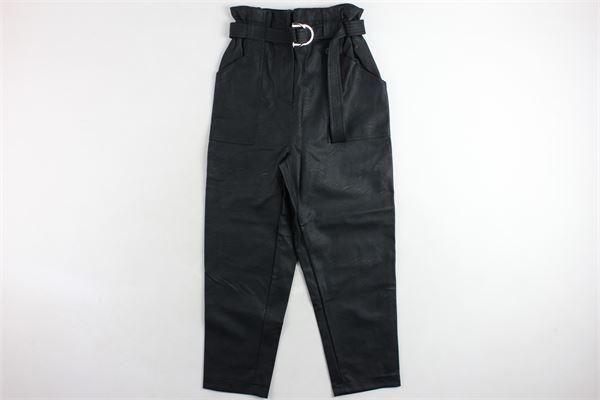 pantalone in ecopelle elastico in vita cintura e tasconi BSB | Pantaloni | 042-212025NERO