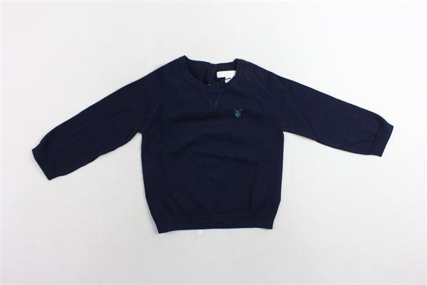 maglione tinta unita con logo BURBERRY | Maglie | 40091621003BLU