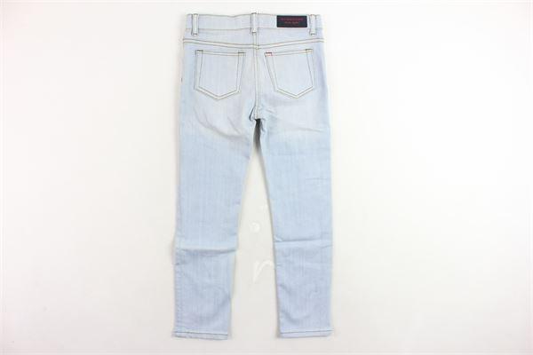 jeans 5 tasche tinta unita girovita regolabile BURBERRY | Jeans | 40634941700AZZURRO