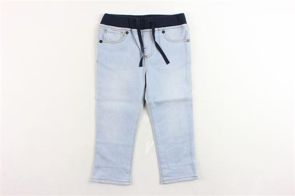 jeans 5 tasche con elastico in vita in contrasto BURBERRY | Jeans | 406860045400AZZURRO