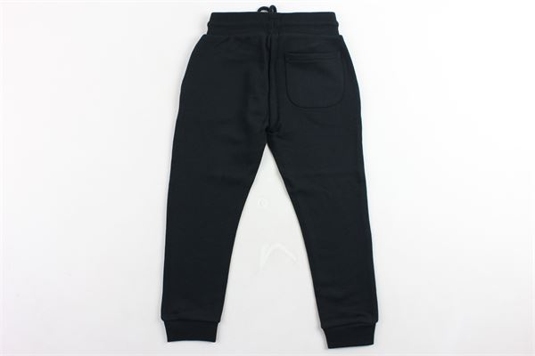pantalone tuta garzato tinta unita con stampa CALVIN KLEIN | Pantaloni | IB0IB00025NERO