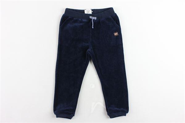 pantalone tuta in ciniglia tinta unita CARRE'MENT BEAU | Pantaloni | Y14105/849BLU