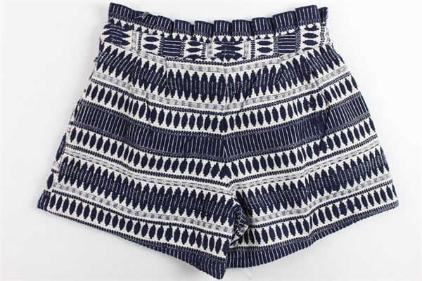 shorts stampa fantasia con fiocco CARRE'MENT BEAU | Shorts | Y14108Z41BLU