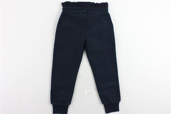 pantalone tuta vita alta tinta unita elastico in rouches CARRE'MENT BEAU | Pantaloni | Y14111849BLU