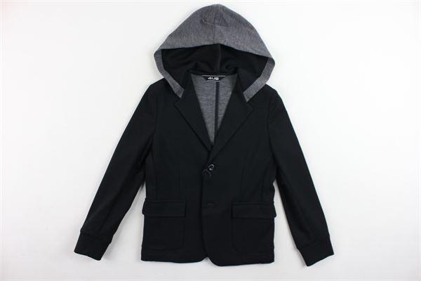 giacca tinta unita con cappuccio CESARE PACIOTTI | Giacche | GIP183900JNERO