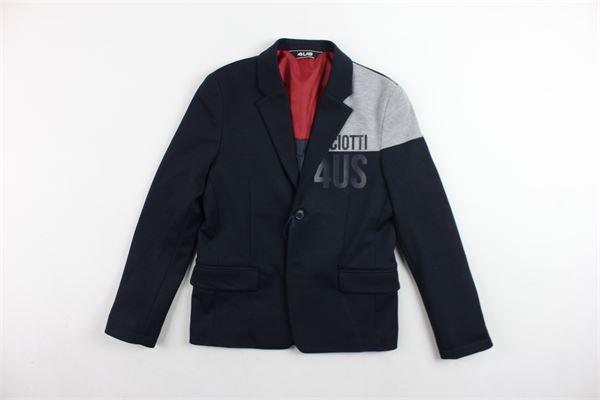 giacca tinta unita profili in contrasto CESARE PACIOTTI | Giacche | GIP183902JBLU