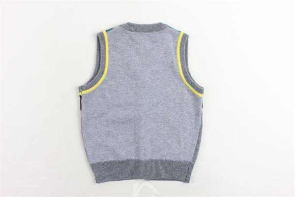 gilet in maglia bicolore con stampa CESARE PACIOTTI | Gilet | GLP183902BGRIGIO