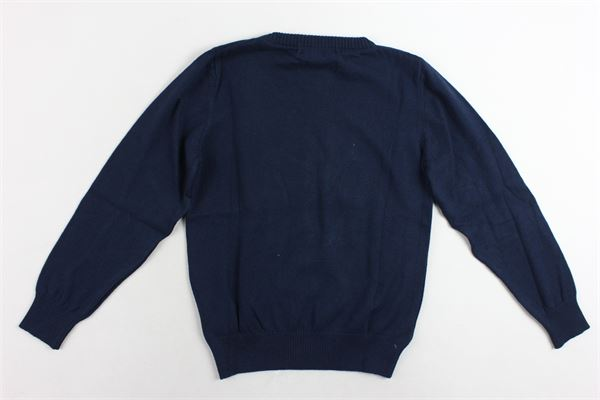 maglione girocollo in cotone tinta unita con stampa CESARE PACIOTTI | Maglie | MGP183910JBLU