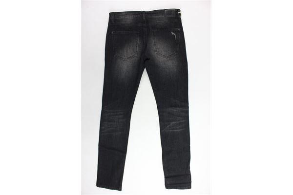 jeans 5 tasche tinta unita con strappi CESARE PACIOTTI | Jeans | PJP183905JNERO