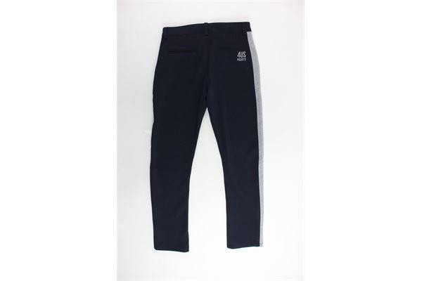 pantalone felpato tasca america girovita regolabile CESARE PACIOTTI | Pantaloni | PTP183908JBLU