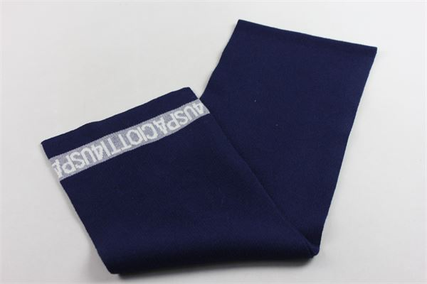 sciarpa in lana tinta unita con stampa CESARE PACIOTTI | Sciarpe | SCP183907JBLU
