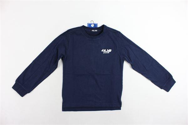 shirt cotone caldo tinta unita con stampa dietro CESARE PACIOTTI | Shirts | TSP183900JBLU