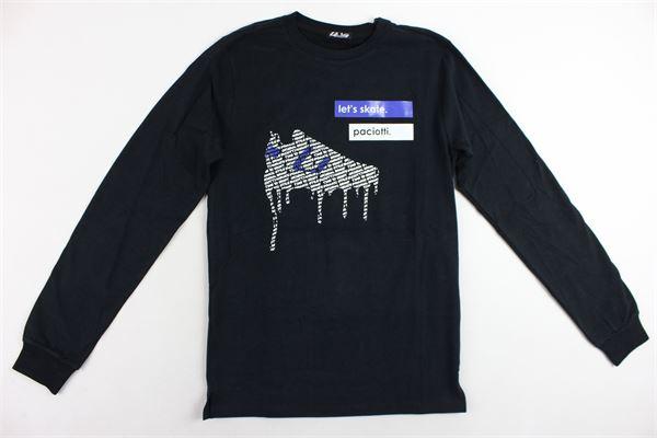 shirt manica lunga tinta unita con stampa CESARE PACIOTTI | Shirts | TSP183904JNERO