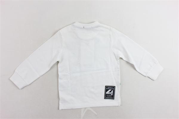shirt manica lunga tinta unita con stampa cotone caldo CESARE PACIOTTI | Shirts | TSP183906BBIANCO