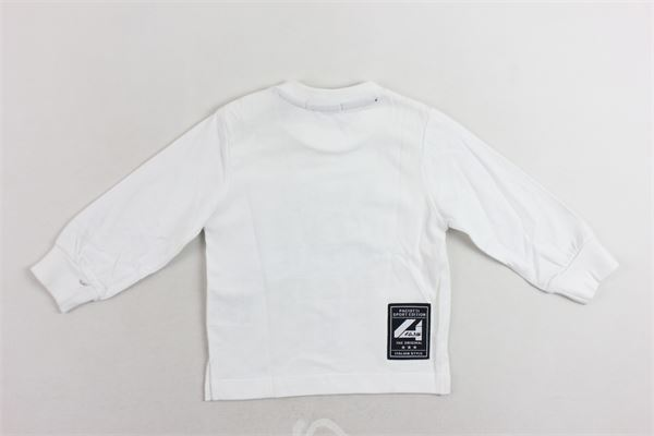 shirt cotone caldo tinta unita con stampa CESARE PACIOTTI | Shirts | TSP183907BBIANCO