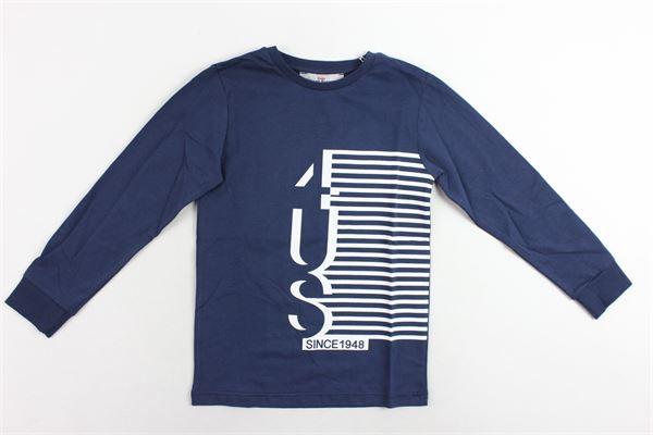 shirt manica lunga tinta unita con stampa CESARE PACIOTTI | Shirts | TSP183912BBLU
