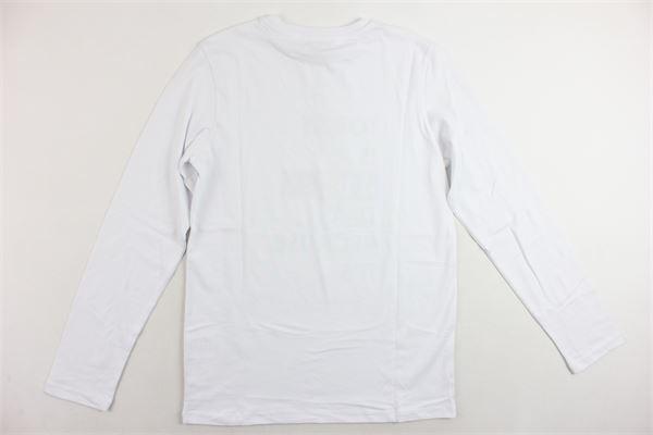 shirt manica lunga in cotone tinta unita con stampa CESARE PACIOTTI | Shirts | TSP183914JBIANCO