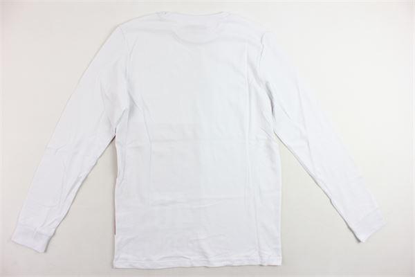 shirt manica lunga tinta unita con stampa CESARE PACIOTTI | Shirts | TSP183916JBIANCO