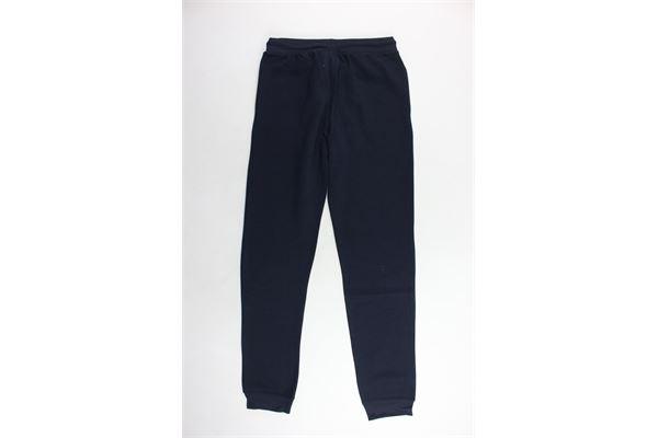 pantalone tuta felpato tinta unita con logo CHAMPION   Pantaloni   304779BLU